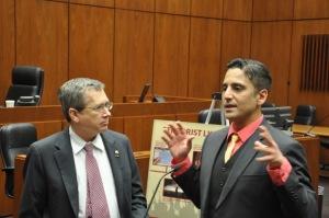 Khalil Marrar and Senator  Mark Kirk